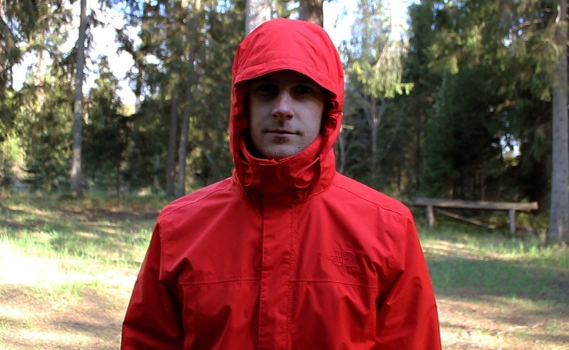 The adjustable hood on the North Face Resolve 2