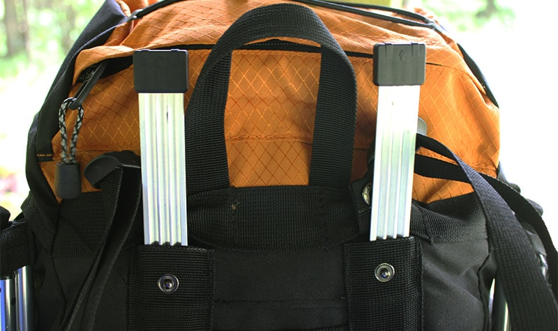 The aluminium internal frame on the Teton Sports Scout 3400 backpack