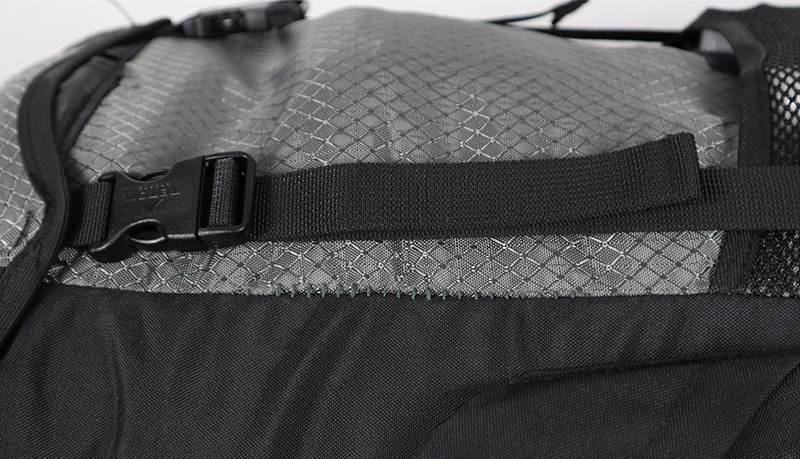 Loose stitching on the Teton Sports Explorer 4000 internal frame backpack
