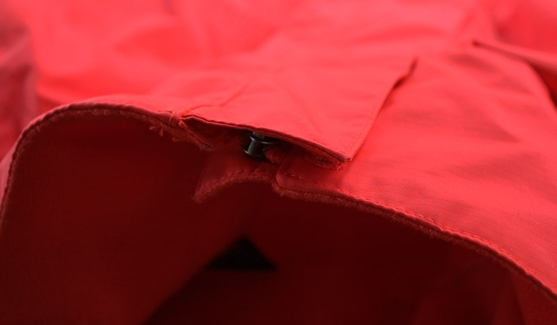 The main zipper cover on the North Face Resolve 2
