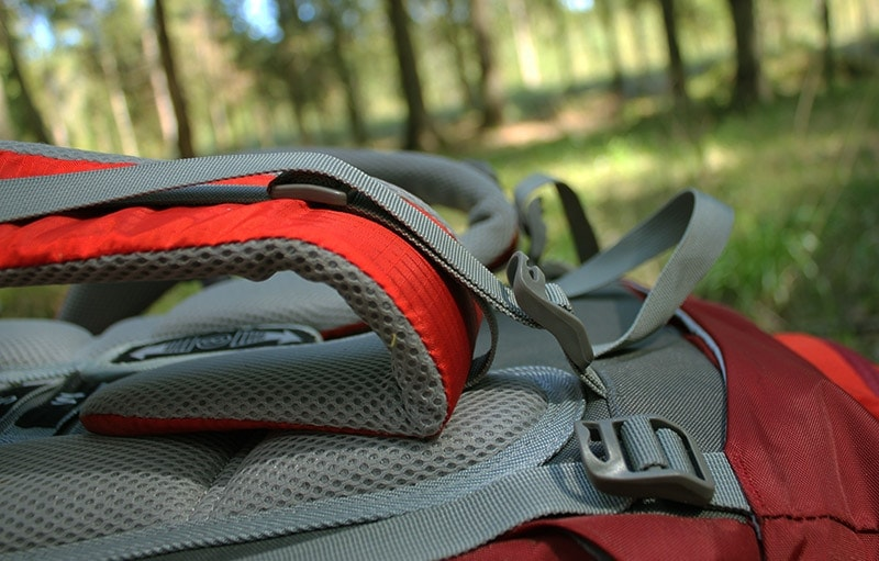 Load lifter straps on the Mountaintop backpack