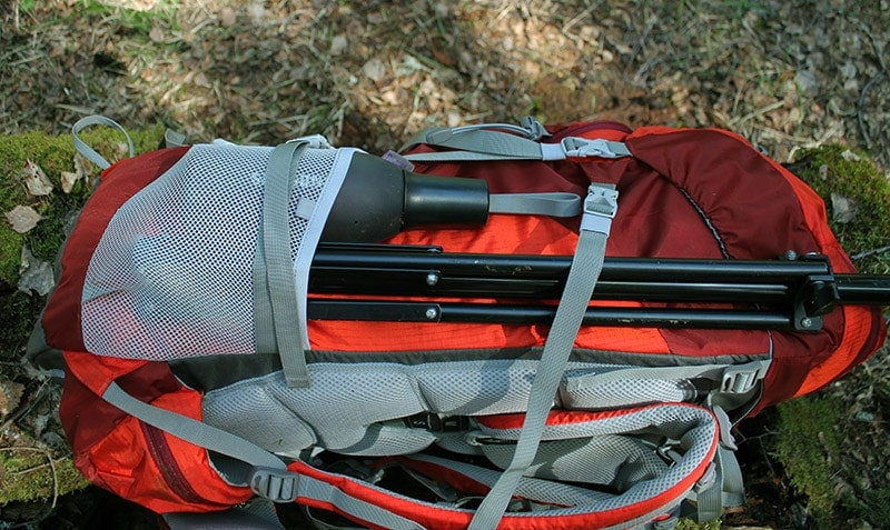 Side compression straps on the Mountaintop backpack