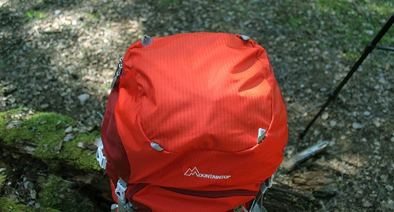 Mountaintop backpack top lid