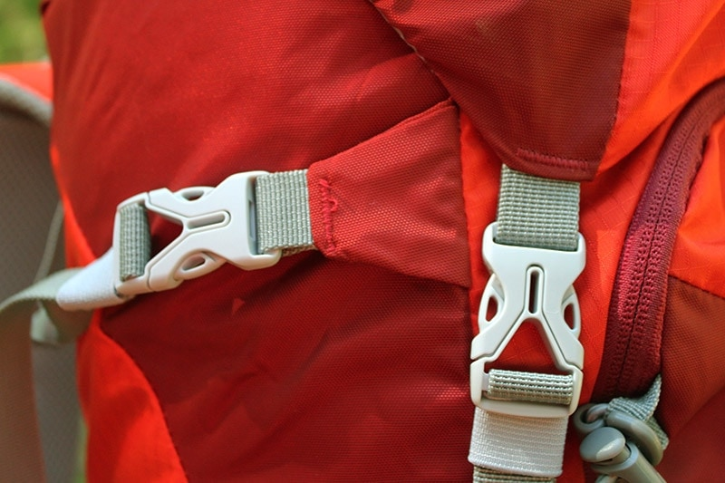 YKK buckles on the Mountaintop backpack