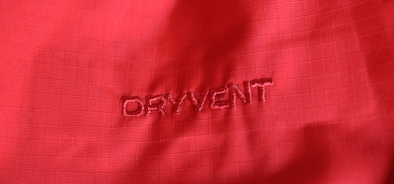 The North Face DryVent fabrics red
