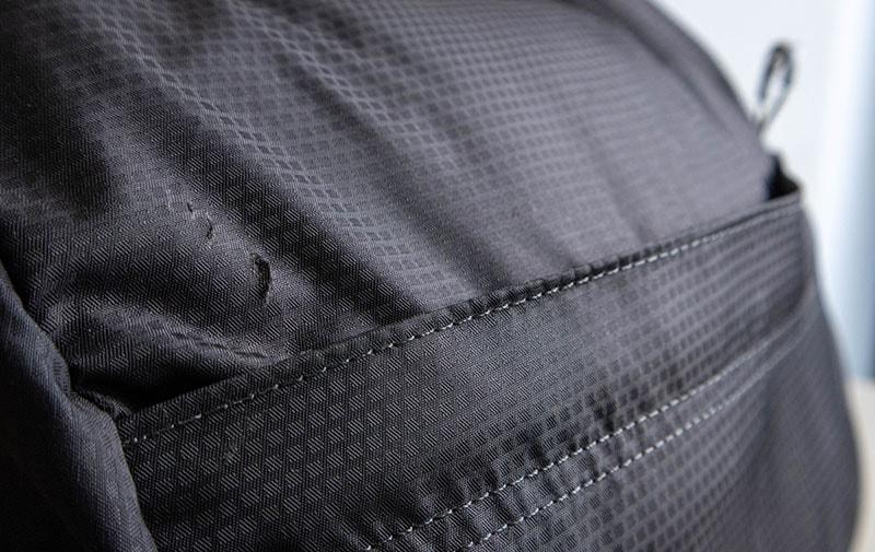 Osprey Talon 44 torn fabric