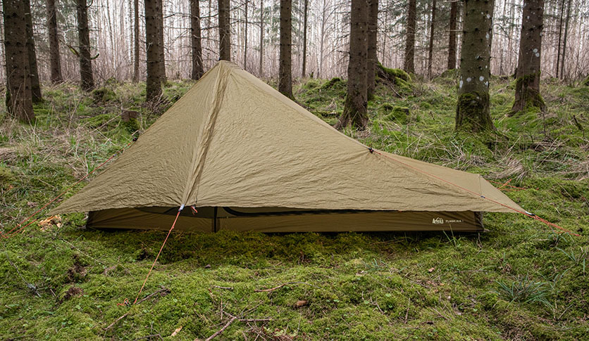 REI flash air 1 built in a woodland forest