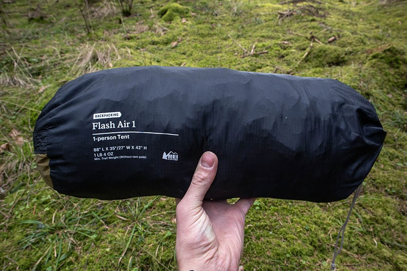 rei flash air 1 full packed size