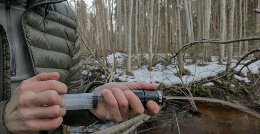 Backflushing the Sawyer Micro Squeeze water filter