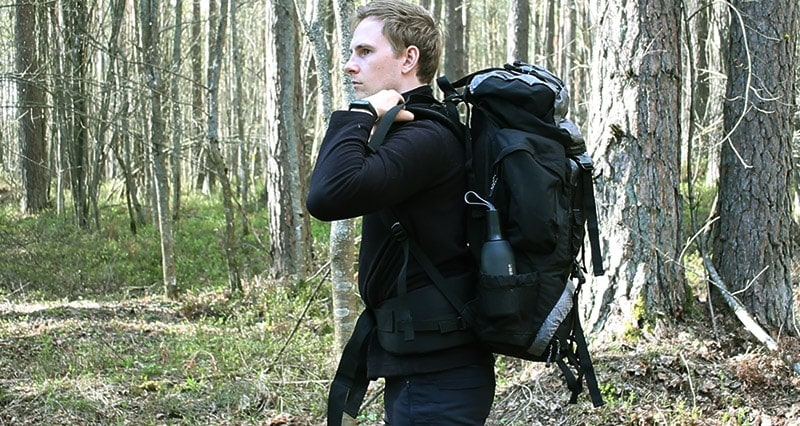 Teton 4000 backpack worn by a man