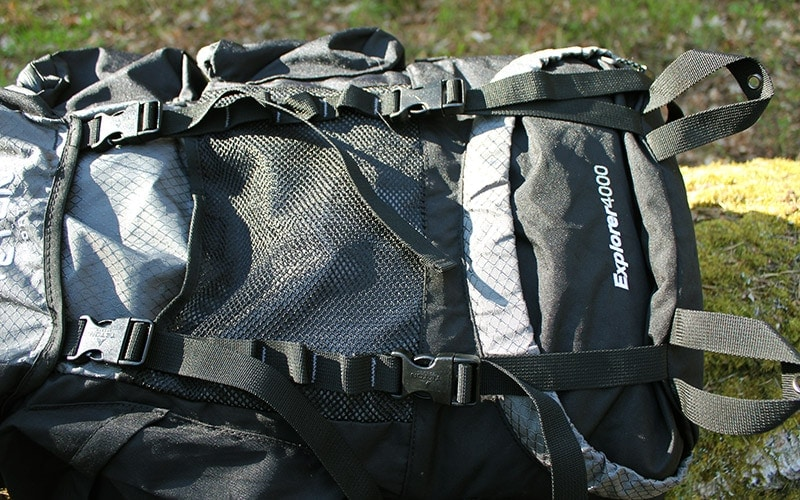 Teton 4000 backpack exterior elements