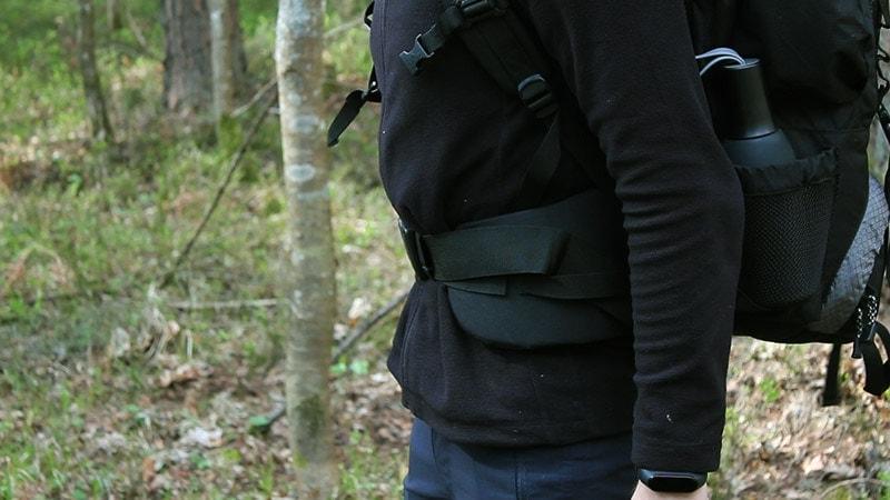 Teton 4000 adjusted hip belt when worn