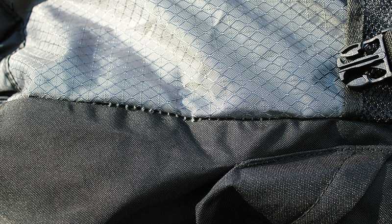 Teton 4000 production defect loose stitching seam