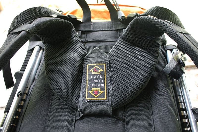 The adjustable torso length on the Teton Sports Scout 3400 backpack