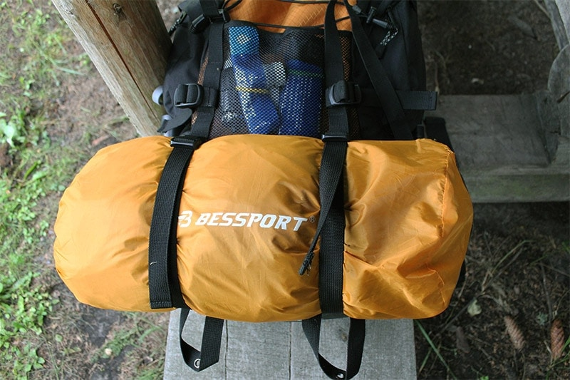 A tent attached to the exterior of the Teton Sports Scout 3400
