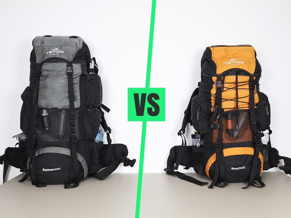 Teton Sports Scout 3400 vs Explorer 4000 internal frame backpack