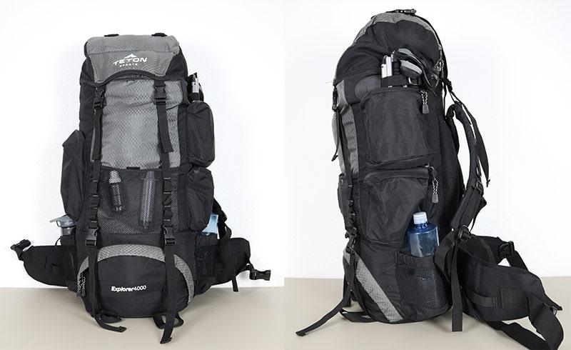Teton Sports Explorer 4000 packed full of gear