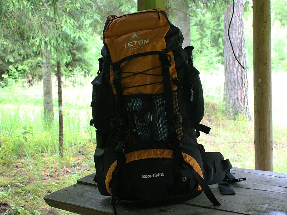 Teton Sports Scout 3400 backpack on a table review