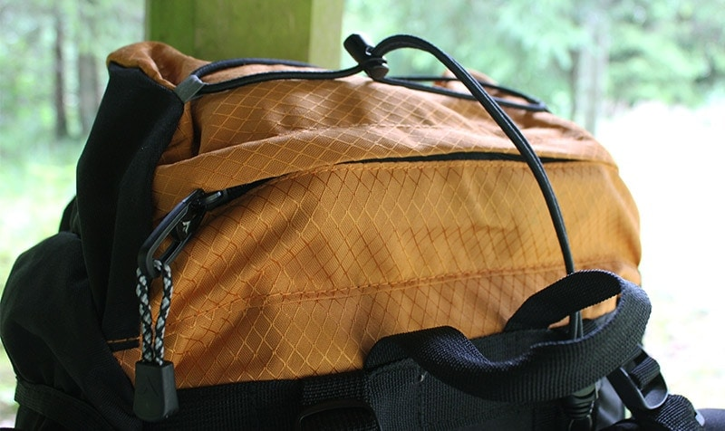 The top pocket on the Teton Sports Scout 3400 backpack